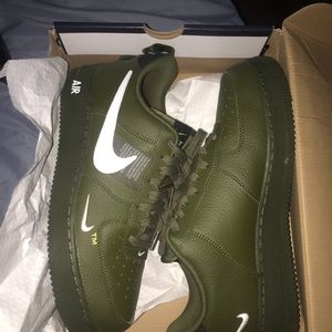 G.O.A.T Air forces 1s green